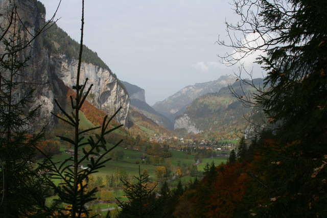 The valley from halfway up