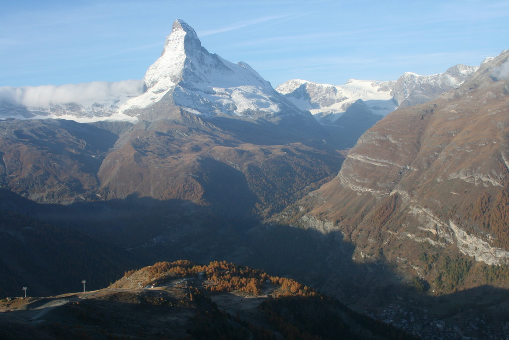 Matterhorn and the Zermatt valley
