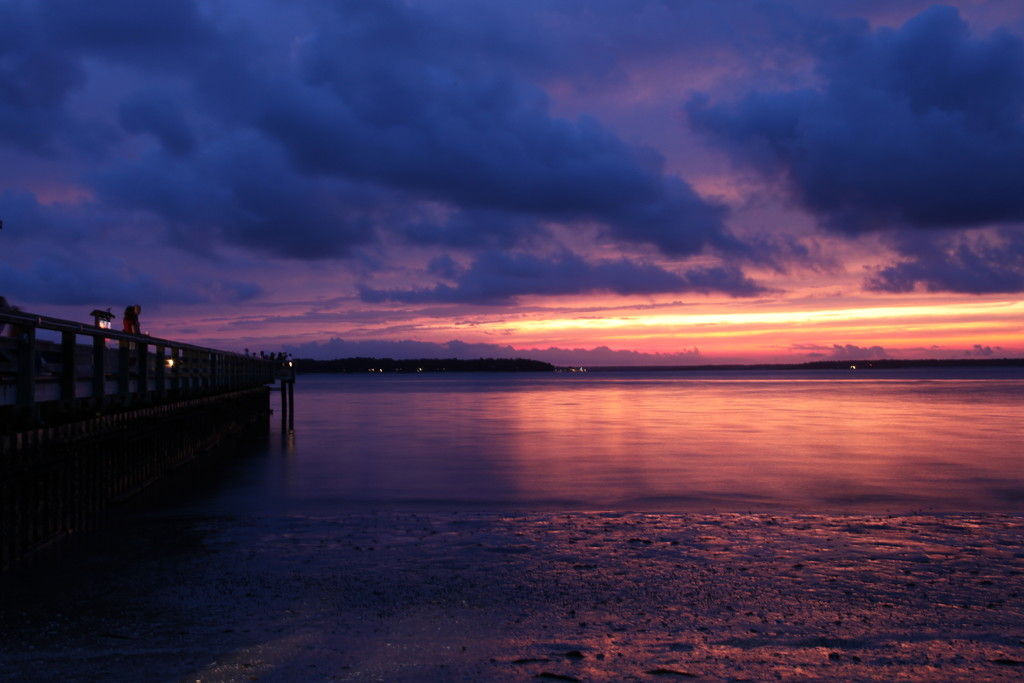 Calibogue Sound Sunset with Pier