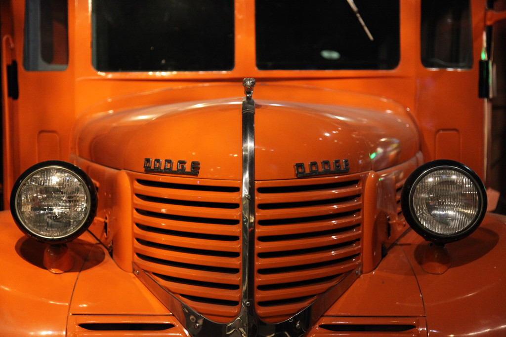 A classic Dodge in orange