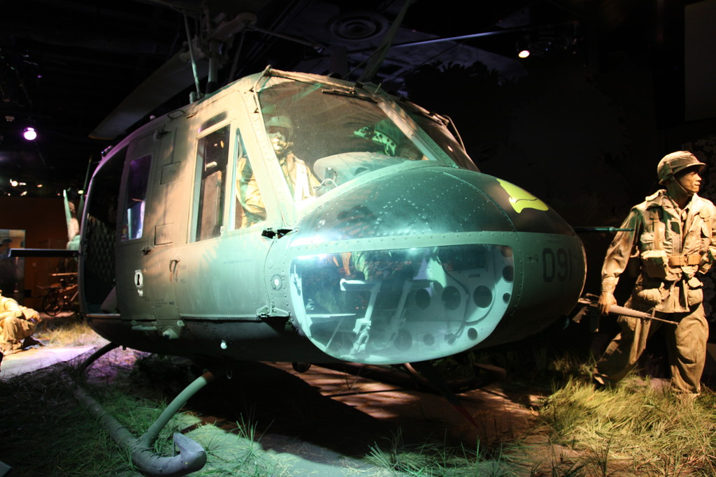 Restored UH-1H Huey from the Vietnam War
