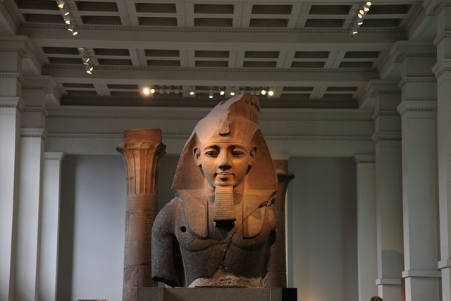 Ramesses II presiding over the Egyptian sculpture room (Room 4)
