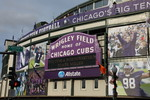 Wrigley Field in Purple and White