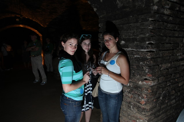 Kristin, Katie and Ali in the Casillero del Diablo
