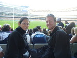 Kristen and Ryan at the MCG