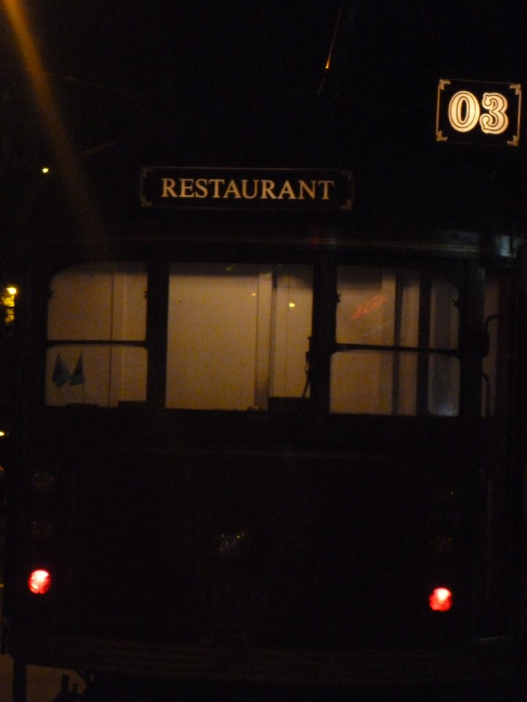 Outside the Colonial Tramcar Restaurant