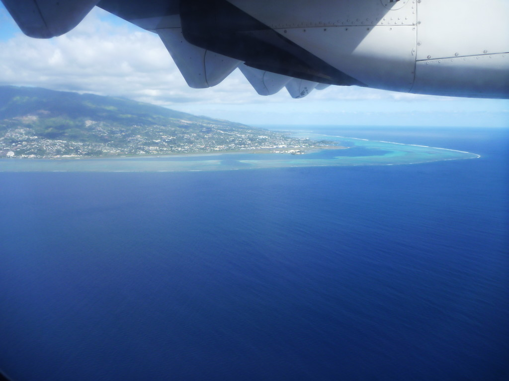 Tahiti, from the plane on the way out