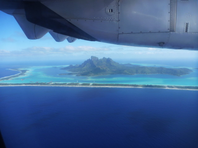 Bora Bora, from the plane on the way in