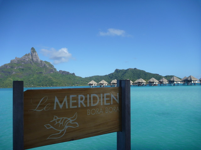 Le Meridien Bora Bora and Mount Otemanu