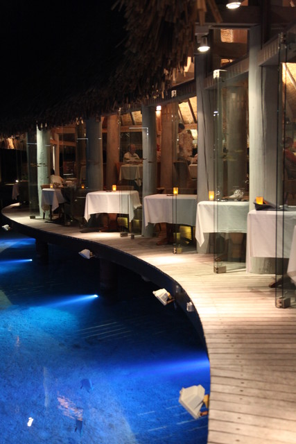 Le Tipanie restaurant at the Le Meridien Bora Bora