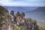 Closeup of The Three Sisters in HDR