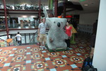 Ryan and Kristen and a giant koala statue