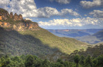 The Three Sisters and the Jamison Valley in HDR