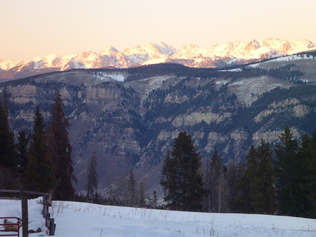 The Rockies at dusk